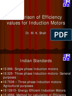 Comparison of Efficiency Values for Induction Motors