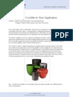 Matching Crucible to Application Mgam