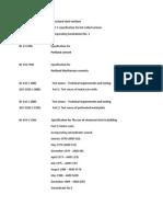 BS - Code list