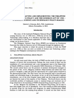 SS 2 Evolving, Crafting and Implementing the Philippine National Drug Policy and the Generics Act of 1988, A Model in Science and Technology Policy,Making, Quintin L. Kintanar, M.D. (5)
