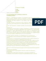 Ley de Defensa de La Riqueza Forestal