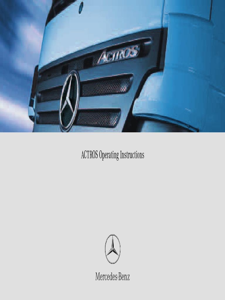 Actros Kezelesi Konyv Angol   Seat Belt   Anti Lock Braking System
