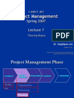 Lecture 7 Project Planning Basics