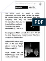 Islamic Studies Worksheet 2.3 Iman - The Angels