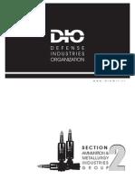DIO (Defence Industries Organisation) ammunition Catalogue Iran