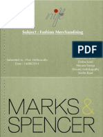 Merchandising Marks & spencers india