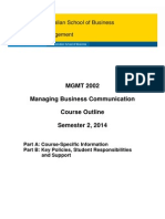 Course Outline 2014