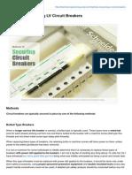 Methods of Securing LV Circuit Breakers