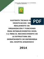 Sustento Reconocimiento Estructuras Enfermeria 2014