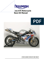 Triumph Daytona 675 Race Kit Manual