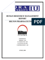 HR Practices at Hilton Pharmaceuticals
