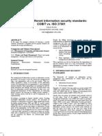 COBIT v s. ISO 27001