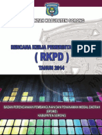 Sistem Informasi Biro Pembangunan dan Kesejahteraan Sosial Provinsi Papua Barat 2014 -RKPD Kab. Sorong 2014