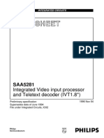 SAA5281 Data Sheet