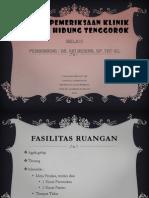 Teknik Pemeriksaan THT-mel