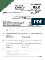Maths DPP-6 (Advanced)