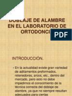 Doblaje de Alambre en El Laboratorio de Ortodoncia