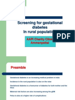 Screening for Gestational Diabetes