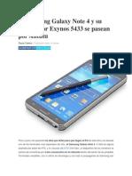 El Samsung Galaxy Note 4 y Su Procesador Exynos 5433 Se Pasean Por Antutu