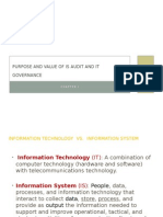 Purpose and Value of is Audit and IT
