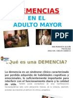 Demencias en Adultos Mayores