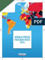 Press Freedom Index 2014