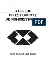Cordel_Peleja Do Estudante de Administracao
