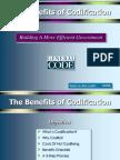 Benefits of Codification