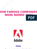 How Famous Companies Were Named