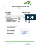 cotizacion fotovoltaico 100Wp