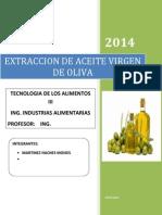 Aceite Virgen de Oliva 2013