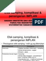 04 Efek Samping, Komplikasi & Penanganan IMPLAN