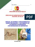 Manual de Normas Procedim. Prevenc.mordedura de Serpientes(1)
