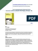 FAO (1997) Contaminación Agricola de Los RH