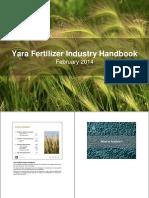 2014 Yara Fertilizer Industry Handbook | Plant Nutrition