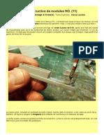 MODÉLISME FERROVIAIRE  à l'échelle HO (11). Construction de modules HO. (11)   le PN (ou passage à niveaux)  Texte & photos