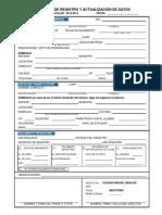 Cedula de Registro y Actualizacion de Datos 2013 2014