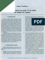 Analisis de La Cuestion VI de Malo de Tomas de Aquino - Jimmy Washburn (Rev. Filosofía Univ. Costa Rica, XXXIX (99) Extraordinario, 131-141, Diciembre 2001)