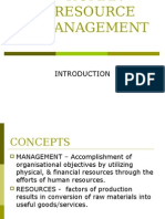 HUman REsource Management-InTRO