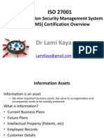 University ISO 27001 BGYS Intro and Certification LamiKaya May2012