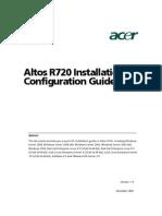 Altos r720 Installation Configuration Guide