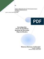 Investigación Sobre Punto de Equilibrio, Retorno de Inversión y Flujo de Efectivo