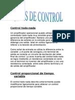 Tipos de Control