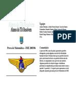 IME Prova de Matemática – IME 2005 06