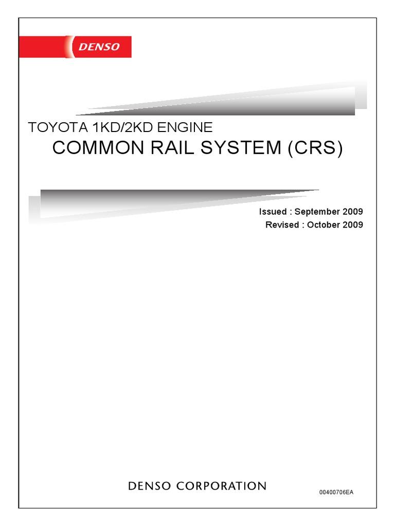 Toyota 1KD/2KD Common Rail System | Acelerador | Inyección