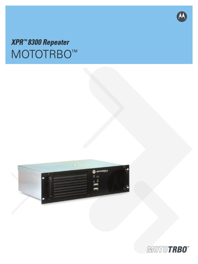 MOTOTRBO Repeater Brochure Final 7 07 | Ultra High Frequency