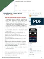 TRAINING REPORT FORMAT - B-TECH ~ Mechanical Guru's