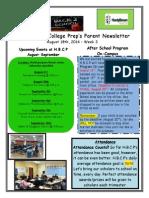 Newsletter - 8.18.2014