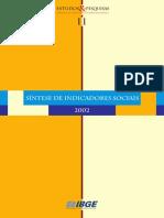 IBGE - Síntese Dos Indicadores Sociais (2002)