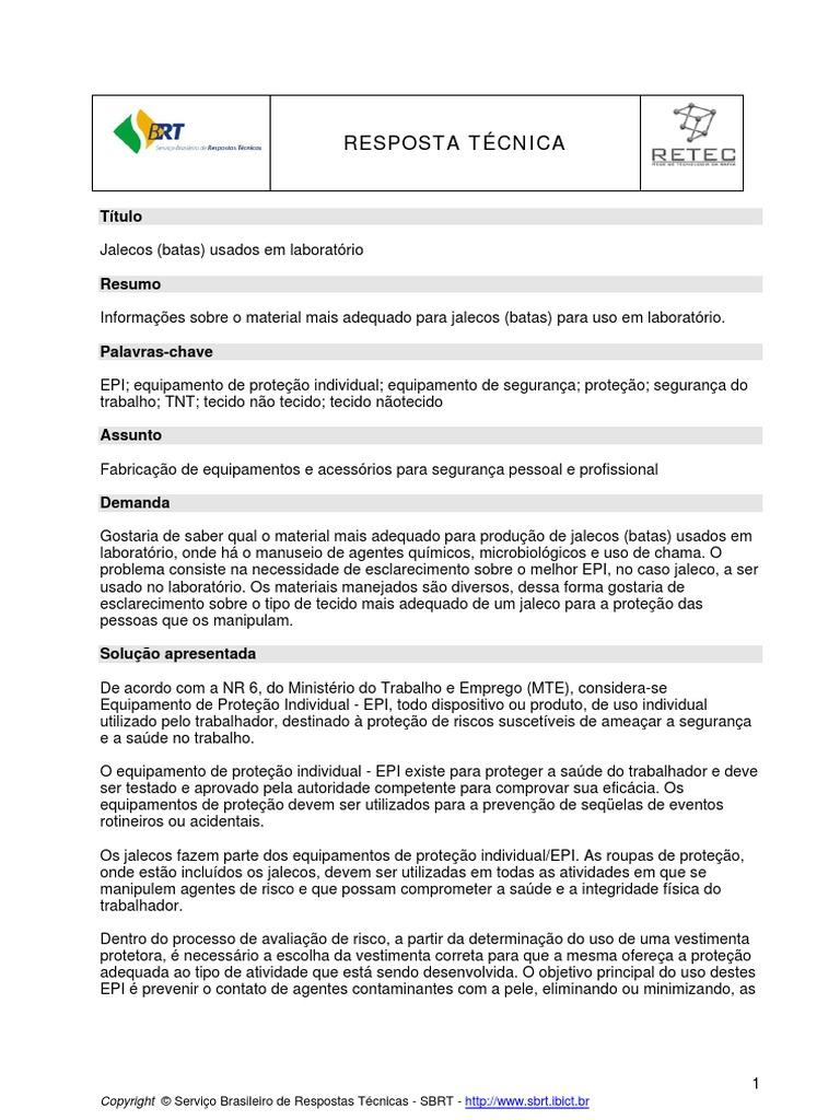 3 - Normas Para Jalecos adcaa626c4